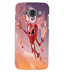 ColourCraft Love Heart Design Back Case Cover for SAMSUNG GALAXY ACE 3 3G S7270