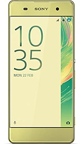 Sony Xperia XA Smartphone (5 Zoll (12,7 cm) Touch-Display, 16GB interner Speicher, Android 6.0) Lime