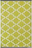 Green Decore - Solitude, Tappeto da interni ed esterni, reversibile, in plastica riciclata, 120 x 180 cm, colore: Verde/Bianco