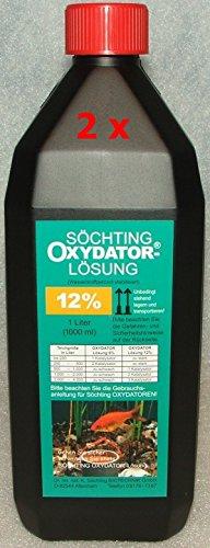 2 Liter Söchting Oxydator-Lösung 12{7975356725189cbc64e71d25b6f638af8db5dbdd04294862813f8d6b492c93fa}, 2 x 1l Liter Nachfüllpack