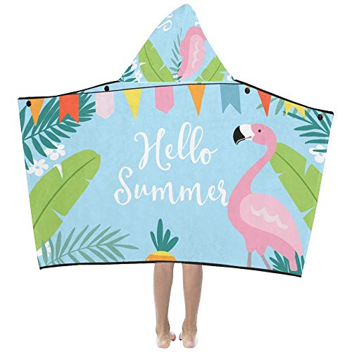 Summer Watermelon Flamingo Soft Warm Cotton Blended Kids Dress Up Hooded Wearable Blanket Bath Towels Throw Wrap For Toddlers Child Girls Boys Size Home Travel Picnic Sleep Gifts (Kids-spa-party Einladungen)