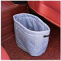 ADream Auto Mülleimer Tragbare Faltbare Aufbewahrungstasche Rücksitz Organizer Auto Mülleimer (Blau)