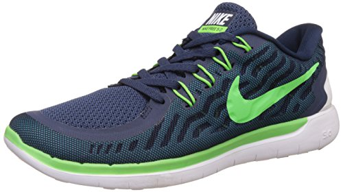 Nike Men's Free 5.0 Blue Running Shoes - 7.5 UK/India (42 EU)(8.5 US)(724383-430)  available at amazon for Rs.5587