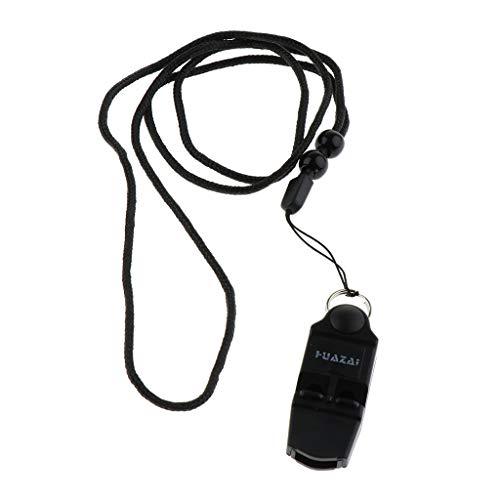 F Fityle 5.5cm Sifflet d'Entraînement d'Urgence pour Sport en Plein Air Sifflets de Sécurité de Camping Noir