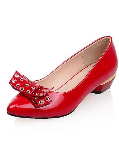 WSS 2016 Chaussures Femme-Extérieure / Bureau & Travail / Décontracté-Noir / Rouge-Talon Bas-Confort / Bout Pointu / Bout Fermé-Talons-Polyuréthane black-us8 / eu39 / uk6 / cn39