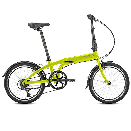 Tern Faltrad Link A7 Fahrrad 7 Gang 20 Zoll Alu Kettenschaltung Shimano Ständer Schutzblech Bike, CB19PVAO07TM0, Farbe Neon Gelb