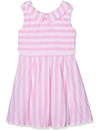 Yumi Double Layer Stripe Dress (Soft Pink), Vestido para Niños