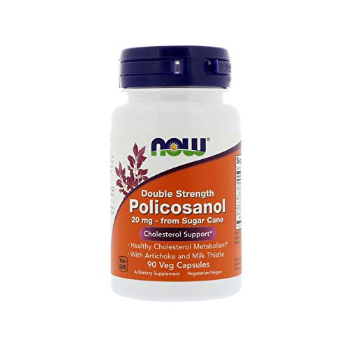 Now Foods, Policosanol, Fuerza Doble - 20mg x90Vcaps