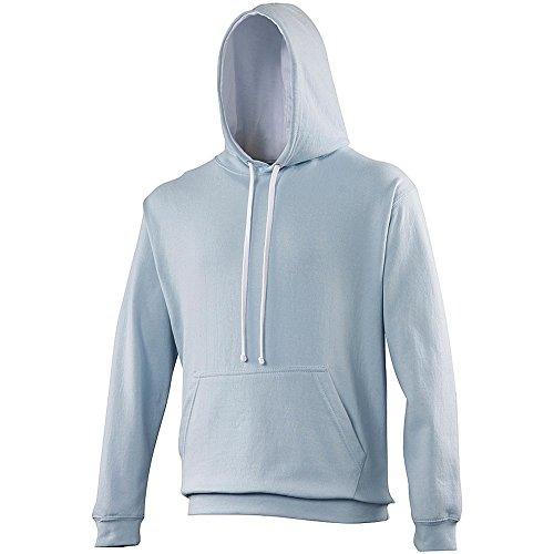 Awdis - Felpa con Cappuccio - Uomo Blu Reale/Bianco Artico