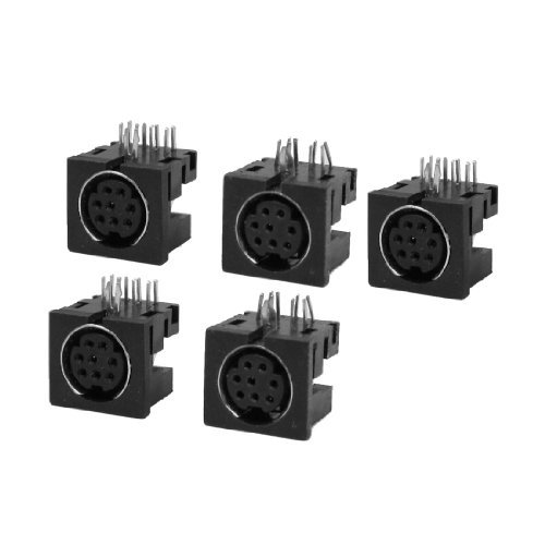 Water & Wood DIN 8 Pin Female S-video PCB Mounting Sockets Connectors 5 Pcs