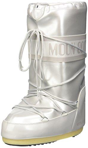 Moon Boot Damen Vinile Met. Schneestiefel, Bianco, 39 EU
