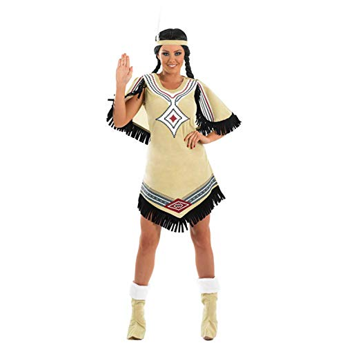 Fun Shack Damen Costume Kostüm, Womens Native American Beige, XXL