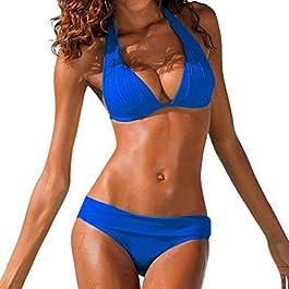 Darringls Costumi da Bagno, Bikini Intero Costumi Donna Mare Due Pezzi Brasiliana Sexy Push up Bikini in Velluto Costume da Bagno Swimwear Costumi Balneari