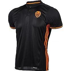 20162017Valencia CF Enzo Perez Shkodran MUSTAFI Daniel Parejo Away fútbol fútbol Jersey en negro, hombre, negro, small