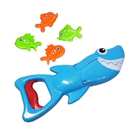 STOBOK Baby Badespielzeug Hungry Shark Catching Fisch Angeln Bad Zeit Spielzeug Dusche Spielzeug Badewanne Wasser Spielzeug für Jungen und Mädchen / 5 stücke - Shark Wasser