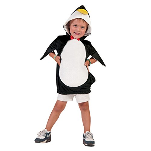 Kostümplanet® Pinguin-Kostüm Kinder Jungen und Mädchen mit Schnabel Kapuze Kinder-Kostüm Faschingskostüm Größe 5-8 Jahre (Pinguin Kostüm Kinder)