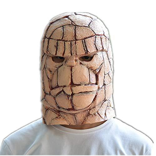 (Uncle treasure house Variation Stein Mann Maske Magic Four Kopfbedeckungen Film und TV Head Cover Halloween Cosplay Leistung)