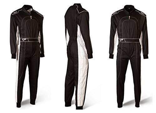 Speed Kartoverall Schwarz/weiß - Denver HS-2 Modell 2018 Racewear (XXXXL (4XL))