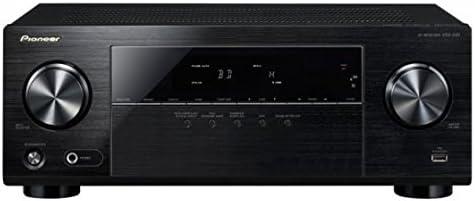 Pioneer 5.1 Kanal AV Receiver, VSX-330-K, Hifi Verstärker 105 Watt/Kanal, Heimkino, Dolby Digital/TrueHD, DTS-HD, 4K UltraHD Durchleitung, HDMI mit HDCP 2.2, Eco Mode, Front USB/Audio in, Schwarz, 1500050
