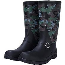 NAN Stivali da pioggia Moda Stivali da pesca alti Scarpe da acqua Scarpe Scarpe in gomma Scarpe impermeabili Tide Slip Primavera e Estate Adulto ( Colore : Verde , dimensioni : EU41/UK7.5-8/CN42 )