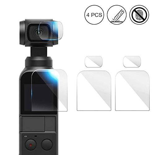 OOOUSE Kameralinse Anti-Kratz-Displayschutzfolie für DJI Osmo Pocket, verbesserte 4H gehärtete Glas-Displayschutzfolie mit HD-Objektiv-Schutzfolie, Zubehör Set 2 Set