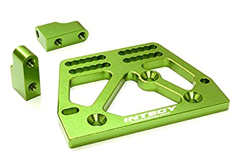 Integy RC Model Hop-ups C26707GREEN Billet Machined Alloy Servo Mount Set for Axial 1/10 SCX-10 Scale Crawler