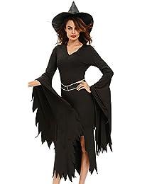 r-dessous Damen Kostüm Hexe Zauberin Horror Vampir Gothic Dark Lady Halloween Karneval Fasching Verkleidung