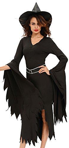 r-dessous Damen Kostüm Hexe Zauberin Horror Vampir Gothic Dark Lady Halloween Karneval Fasching Verkleidung Groesse: (Für Kostüme Hexen Frauen)