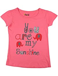 Tickles Pink Printed Top For Girls