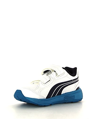 Puma chaussures s Evolution V Kids - bleu Blanc - White/navy
