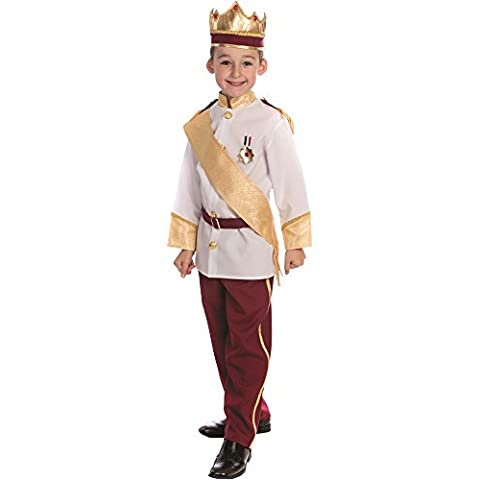 Dress Up America - Disfraz de príncipe real para niños, multicolor, talla M, 8-10 años (839-M)