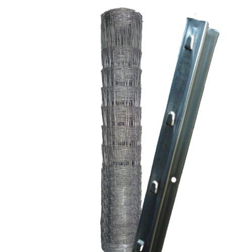 *50m Wildzaun Forstzaun 150/13/15+ Z-Profil Zaunpfosten*