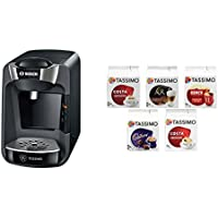 Bosch Tassimo Suny Coffee Machine with Tassimo Variety Box Pack of 5 (56 Servings)