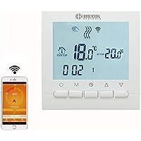 Termostato programable Beok BOT-313 para caldera de gas, WiFi, pantalla LCD, programable, controlador de temperatura ambiente, aplicación gratuita Mando a ...