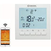 Beok BOT-313WiFi, schermo LCD, programmabile, regolatore della temperatura ambiente, applicazione
