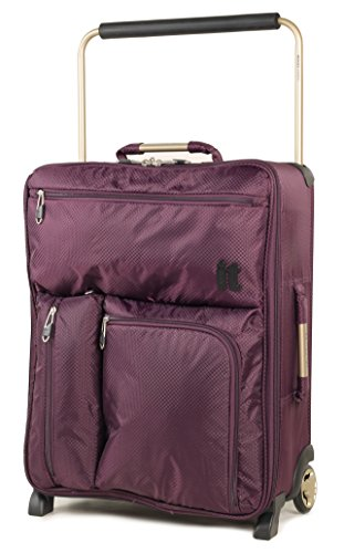IT Luggage , Trolley  nero Black small Burgundy