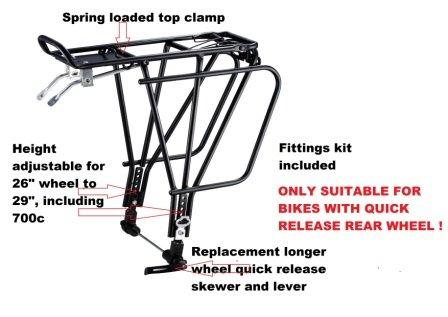 Redneck Sport Disque de frein en alliage Compatible Urban 4Transporteur arrière de montage-NOIR, 10kg