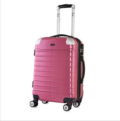 Xiuxiandianju 20 pollici 24 pollici 28 pollici ruota universale leva ABS angolo impermeabile retro valigia viaggio bagaglio di viaggio (una valigia dimensioni & colore diverso) Red