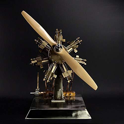 XFY Neun Zylinder Dampfmaschine Motor Miniatur Stirling Motor Großes Lüfterdesign Metallmodell Kreatives Handwerk