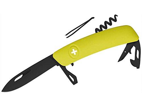SWIZA Herren Schweizer Messer D03 AB moos, Schwarz, 17 cm