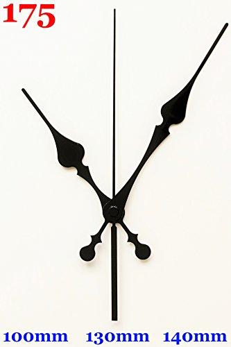 UNADJUSTED Quarz Uhrwerk Schleichendes lautlos kein Ticken Uhrzeigerset Zeiger-Sets schwarz 175 (gewindelänge: 21 mm mit Wandaufhänger, schwarz)