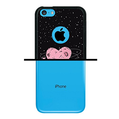 iPhone 5C Hülle, WoowCase Handyhülle Silikon für [ iPhone 5C ] Satz - Life is perfect Handytasche Handy Cover Case Schutzhülle Flexible TPU - Rosa Housse Gel iPhone 5C Schwarze D0265