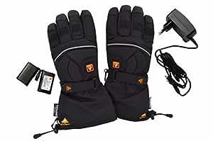 Alpenheat Heated Adult Ski Snowboard Motorcycle Gloves Black black Size:XS
