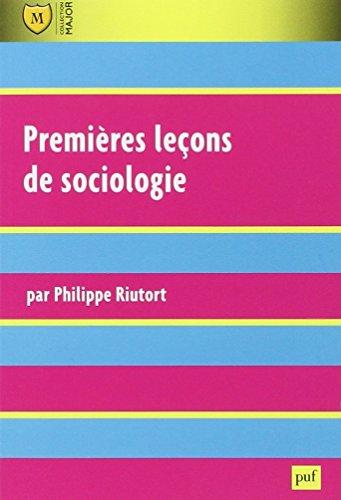 Premières leçons de sociologie