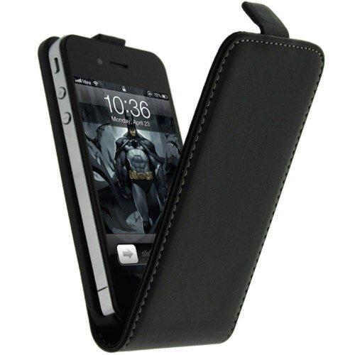 Mocca Design ER4S01 Etui à rabat en cuir pour iPhone 4/4S Noir