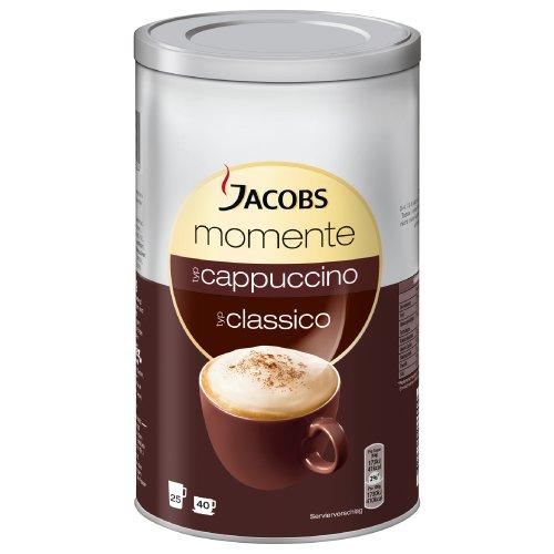 Jacobs Krönung Momente Cappuccino Dose, Feine Cremigkeit, Instant Kaffee, mild, 400g, 606484 (Fett Lösliche Ballaststoffe)