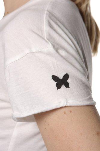Magazzini del Este Damen Shirt Motiv T-Shirt FEMME FATALE Creme