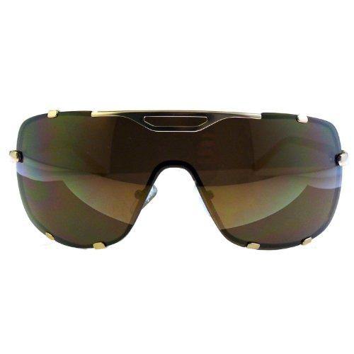 Schicke Oversize Sonnenbrille gold braun