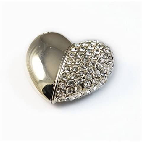 Magnete e gioielli a forma di cuore, 4 GB USB 2,0 Flash (Dispositivo Usb Mass Storage Device)