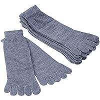 HEALIFTY 5 Paar Knöchelkompression Socken Mode Fünf Finger Socken Baumwolle Mittlere Röhre Zehensocken
